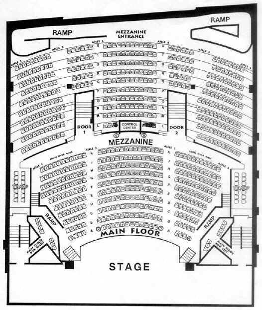 Mother Lode Theatre Seating Chart