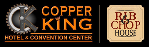 Copper King Hotel Rib House Logos
