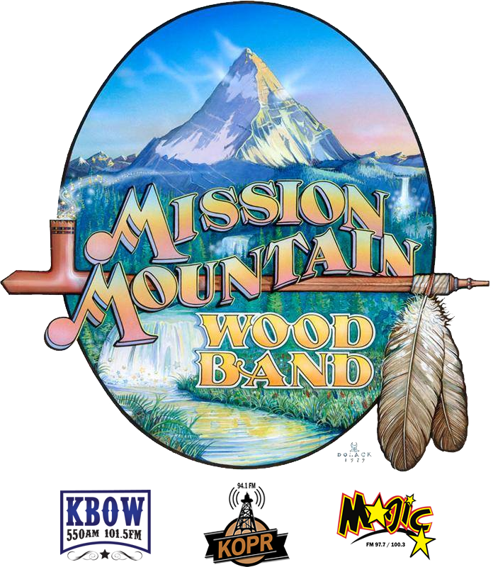 Mission Mountain Wood Band Logo with Sponsor Logos